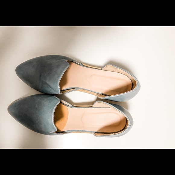 Leather block heel modified d'Orsay style